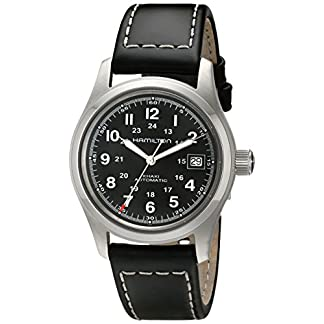 Hamilton-Herren-Armbanduhr-Automatik-Lederarmband-H70455733