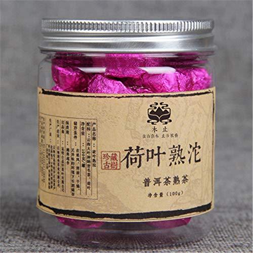 China-Puer-Tee-Lotus-Puerh-Kleiner-eingemachtes-Lotosblatt-Pu-er-reifer-Tee-100g-022LB-Puer-Tee-Schwarzer-Tee-Chinesischer-Tee-Pu-er-Tee-Puerh-Tee-Pu-erh-Tee-Pu-erh-Tee-gekochter-Tee-Roter-Tee