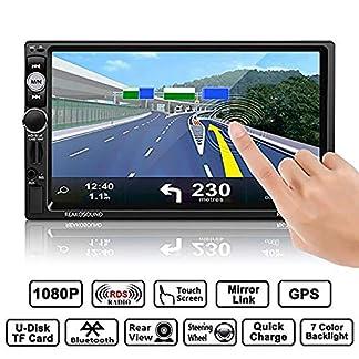 LHXHL-Autoradio-Bluetooth-Freisprecheinrichtung-Autoradios-GPS-Funktion-Mirror-Port-Lenkradsteuerung-Car-Kit-Rckfahrkamera-Auto-MP3-Player-USB-SD-TF-FM