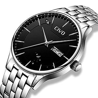 CIVO-Herren-Uhren-in-Silber-Edelstahl-Wasserdicht-3atm-Edelstahl-Armband-Minimalistisch-Tag-und-Datum-Anzeige-Luxus-Analog-Herren-Quarz-Armbanduhr-Modisches-Einfaches-Klassisches-Design