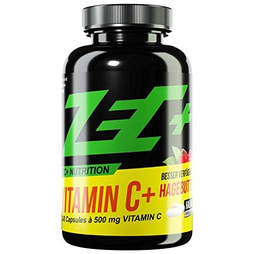 ZEC+ Vitamin C HOCHDOSIERT 760mg | mit naturbelassenem Hagebuttenextrakt | stärkt das Immunsystem | kann Skorbut vorbeugen