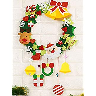 arthomer-Weihnachten-Weihnachtsdeko-Trkranz-Kranz-Dekokranz-Tr-Hngen-Dekoration-Erwachsene-Und-Kinder-Pdagogische-Filz-DIY-Kit