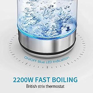 CISNO-Elektrischer-Tee-Kessel-mit-Temperaturkontrolle-blaue-LED-Glaskessel-mit-Edelstahl-Sieb-17L-2200W-kabelloser-Kessel-mit-dem-Tee-Infuser-steiler