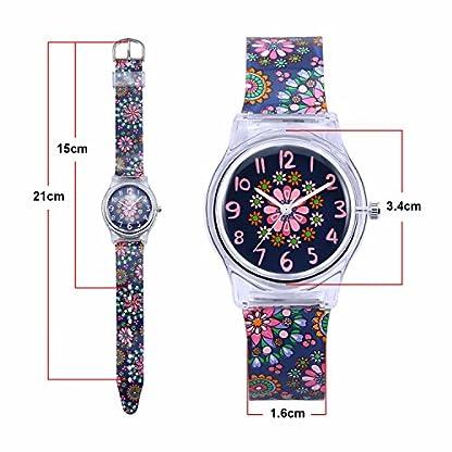 Zeiger-Kinder-Uhr-Analog-Quartzwerk-mit-Silikon-Armband
