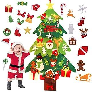 FunPa-Weihnachtsbaum-aus-Filz-DIY-Weihnachtsbaum-Dekoration-Hngend-Deko-fr-Kinder-Weihnachts-Geschenk-Ornament-Xmas-Wandbehang-Deko