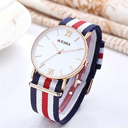 Souarts-Damen-Armbanduhr-Einfach-Stil-Nylon-Armband-Studentenuhr-Analoge-Quary-Uhr-mit-Batterie-Blau