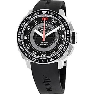 Alpina-Seastrong-Herren-Armbanduhr-44mm-Armband-Silikon-Automatik-AL-880LBG4V6