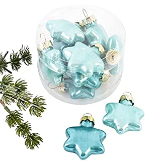 Dadeldo-Weihnachtskugel-Sterne-Premium-10er-Set-Glas-4x4x2cm-Xmas-Baumschmuck