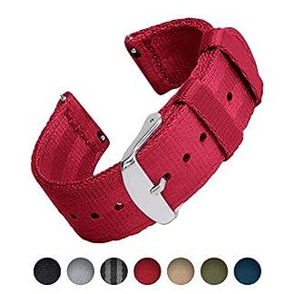 Archer-Watch-Straps-Sicherheitsgurt-Stil-Gewebtes-Nylon-Quick-Release-Ersatz-Uhrenarmband-fr-Damen-und-Herren-Uhrenband-fr-Uhr-und-Smartwatch-Mehrere-Farben-18mm-20mm-22mm