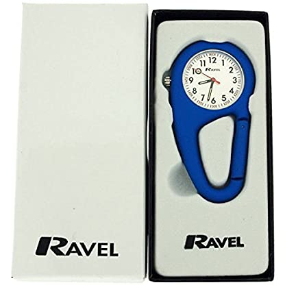 Ravel-dunkelblaue-Karabinerhakenuhr-Unisex-Krankenschwester-Arzt-R110506