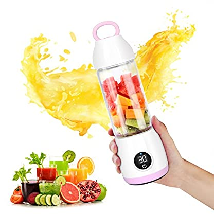 SUNAVO-BL-07-Smoothie-Maker-Mini-Standmixer-USB-WiederaufladbarTragbare-Persnlich-Standmixer-Multifunctional-Mini-Blender-Haushalt-Obst-Frucht-Mixer-fr-Saft-BPA-Frei-fr-Reisen-420ml