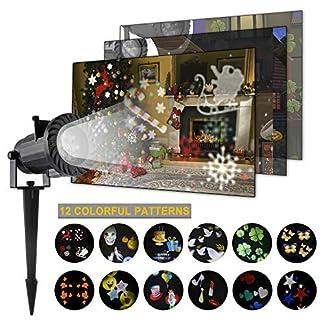Weihnachts-LED-Projektor-LED-Projektionslampe-Weihnachtsbeleuchtung-auen-12-Muste-fr-Weinachts-Dekoration