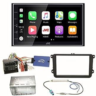 JVC-KW-M745DBT-CarPlay-Android-Auto-Digitalradio-USB-Autoradio-Touchscreen-Bluetooth-Moniceiver-Einbauset-fr-Golf-5-6-Passat-3C-B7-Touran