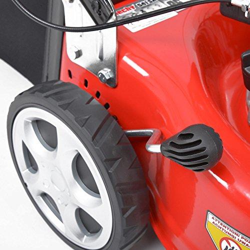 HECHT-Benzin-Rasenmher-27-kW-35-PS-Motorleistung-Radantrieb-406-cm-Schnittbreite-7-fach-Schnitthhenverstellung-Radantrieb-Lieferung-inkl-Motorl