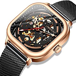 Herren-Automatikuhr-Mnner-Mechanische-Automatik-Wasserdicht-Skelett-Quadratisch-Schwarz-Edelstahl-Mesh-Armbanduhr-Mann-Blau-Designer-Business-Kleid-Leuchtende-Analog-Uhren