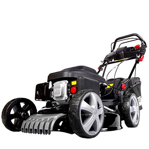 BRAST-Benzin-Rasenmher-25kW34PS-Elektrostart-Radantrieb-46cm-Schnittbreite-Stahlgehuse-60L-Fangkorb-4-Takt-Motor-TV-geprft