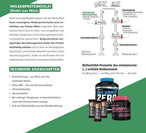 BiotechUSA ZERO Bar 20*50 g Schoko-Marzipan – Eines der besten Proteinriegel – 45% Protein, 0% Zucker, Laktosefrei, Glutenfrei. Sportriegel mit Stevia. …