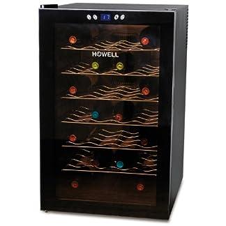 HOWELL-HOcv280-N-Freestanding-28bottle-S-Wine-Cooler–Wine-Coolers-289-Freestanding-Black-7-Shelves-Black-Black-Right