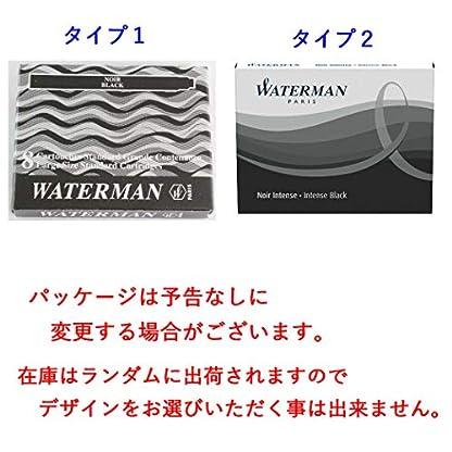 Waterman-Tintenpatronen-permanente-Tinte-Standardgre-Schwarz-8-Stck