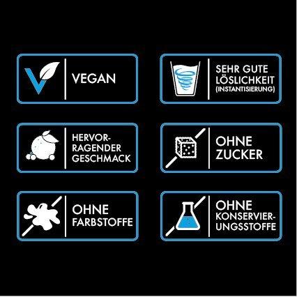 PREMIUM VEGAN PROTEIN (Spirulina-Vanille, 750g). Protein Blend aus Erbsenprotein und Reisprotein – Proteinshake aus natürlichen Zusatzstoffen und 78% Proteingehalt; ohne Soja und Hanf – Laktosefrei