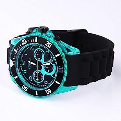 TIME100-Sportuhr-Silikon-Chronograph-Armbanduhr-Quarz-Schwarz-Blau-W70045G02AM