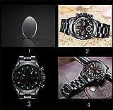 Herren-Uhren-Luxus-Fashion-Business-Quarzuhr-Herren-Sport-Full-Edelstahl-Wasserdicht-Schwarz-Uhr