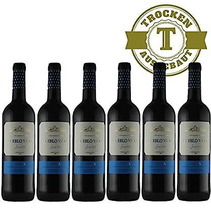 Rotwein-Spanien-Rioja-Pueblo-Viejo-Tempranillo-2016-halbtrocken-6-x-075l-VERSANDKOSTENFREI