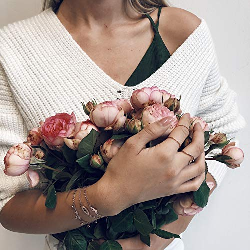 Happiness Boutique Damen Rosegold Ringe im Zarten Design | Minimalist Ring Set 2 Bandringe Edelstahlschmuck