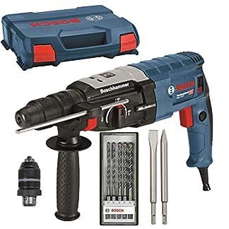 BOSCH-Bohrhammer-GBH-2-28-F-L-Case-2x-Meiel-Makita-Bohrer-Set-5-teilig