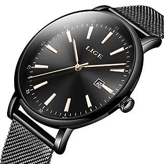 LIGE-Herren-Uhren-Wasserdicht-Mnner-Armbanduhr-Mode-Elegant-Geschft-Schwarz-Analoge-Quarz-Herrenuhr-fr-Mann-mit-Edelstahl-Masche-Kalendar-Simple-Freizeit-Armbanduhren-Uhr-Herren-Kleid