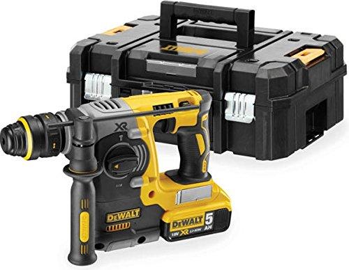 DeWalt-SDS-plus-XR-Akku-Kombihammer-18V-5-Ah-24mm-brstenlos-13mm-Schnellspann-Bohrfutter-fr-Beton-Ziegel-und-Mauerwerk-von-4-24-mm-inkl-2x-Akkus-System-Schnellladegert-Tstak-Box-II-und-Zubehr-DCH274P2
