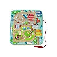 Haba-301056-Magnetspiel-Stadtlabyrinth-Pdagogisches-Holzspielzeug-fr-Kinder-ab-2-Jahren-Schult-die-Logik-und-Feinmotorik