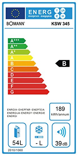 Bomann-KSW-345-Weinkhlschrank-FreistehendB189-kWhJahr636-cm18-Flaschenelektronische-Temperatursteuerung-und-einstellungschwarz
