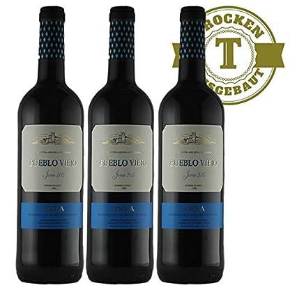 Rotwein-Spanien-Rioja-Pueblo-Viejo-Tempranillo-2016-halbtrocken-3-x-075l-VERSANDKOSTENFREI
