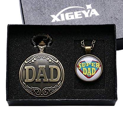 xigeya-Antik-Bronze-Dad-Special-Taschenuhr-Anhnger-Herren-Pappy-Vatertag-Geschenk