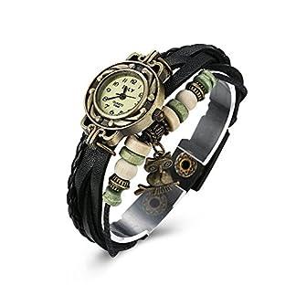iWatch-Damen-Armbanduhr-Retro-Niedliche-Eule-Leder-Armkette-Armband-Analog-Quarz-Uhr-Watches-Schwarz