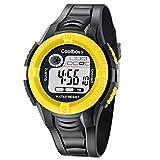Souarts-Herren-Junge-Armbanduhr-Digital-Display-Sport-Uhr-LED-Wecker-Kalender-Stoppuhr-Wasserdichte-uhr