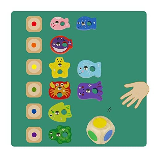 Hlzernes-Magnetisches-Fischen-Spiel-Pdagogischen-Spielwaren-fr-Kinder-3-4-5-Jahre-Alt