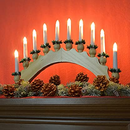 Nipach-GmbH-Schwibbogen-aus-Holz-braun-10-LED-Leuchtfarbe-warm-wei-Leuchtbogen-Lichterbogen-Rundbogen-Adventsleuchter-Weihnachtsbeleuchtung-Weihnachtsdeko