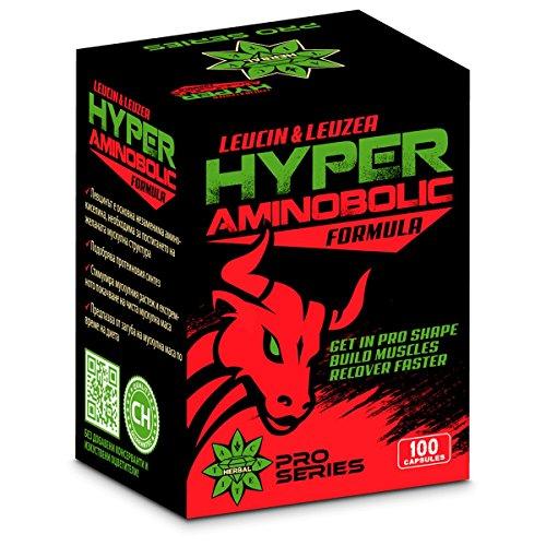 Leuciné & Leuzea Hyper Aminobolic – Holen Sie sich PRO-Form, Recover Schneller, bauen Muskeln, Leucin Essential Amino Supplement | Hohe Festigkeit