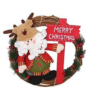 ZXPAG-Trkranz-Weihnachtsdeko-Weihnachtsdeko-Kranz-Hangend-Rattan-Kranz-Santa-Schneemann-fr-Deko-Weihnachten-Advent-Trkranz