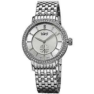 Burgi-Damen-Armbanduhr-mit-Edelstahl-Armband