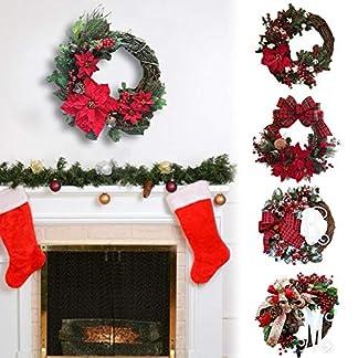 Weihnachtskranz-Weihnachtsdeko-Trkranz-Kranz-Dekokranz-Weihnachten-Garland-Knstliche-Girlande-Tr-Hngen-Dekorative-Lieferungen-Anhnger-Kranz-Fr-Deko-Weihnachten-Advent-30cm