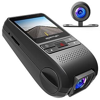 APEMAN-Dual-Dashcam-GPS-Autokamera-Full-HD-1080P-2-IPS-Bildschirm-170-Weitwinkel-mit-G-Sensor-Loop-Aufnahme-Bewegungserkennung-Parkmonitor