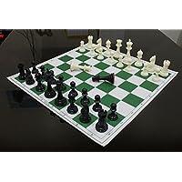 StonKraft-432-x-432-cm-Turnier-Schach-Vinyl-faltbares-Schachspiel-mit-festen-Plastikstcken-mit-extra-Knigin-ideal-fr-professionelle-Schachspieler