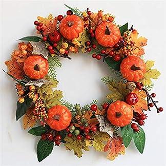22-Zoll-Herbst-Deko-Kranz-fr-Haustr-Halloween-Kranz-Weihnachtskranz-mit-Krbissen-Ahornblatt-und-Beeren-Ideal-fr-ErnteThanksgivingHalloweenWeihnachten