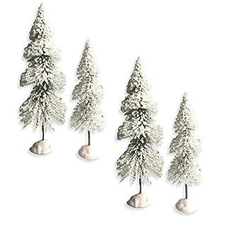 Banberry-Designs-Knstlicher-Baum-mit-Schneeflocken-4-Stck