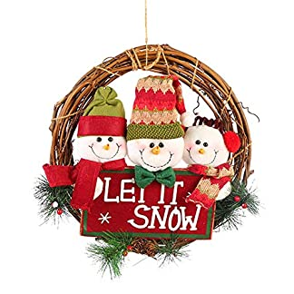 BIGBOBA-Weihnachtskranz-Trschmuck-Wandkranz-Weihnachtskranz-Weihnachten-Kranz-Adventskranz-Winterkranz-Dekokranz-33cm