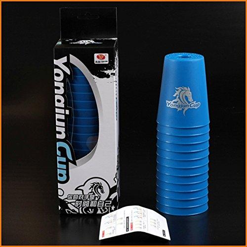 12-Schnell-Flying-Stack-Cup-wettbewerbsfhige-Spiel-Kinder-Puzzle-fliegende-Untertasse-Spielzeug-Speed-Falten-Tasse