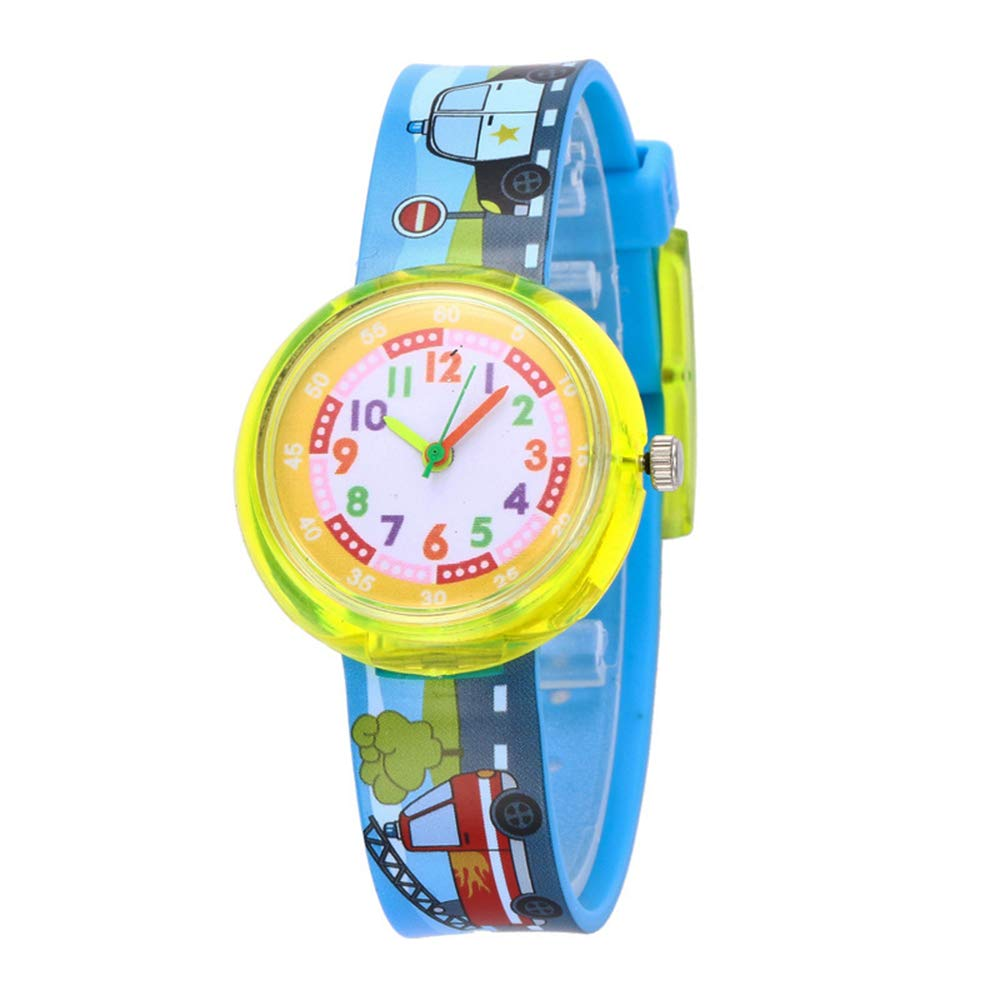 Heflashor-Kinder-Armbanduhr-Unisex-Mdchen-Jungen-3D-Cartoon-Muster-Silikon-Quarz-Analog-Armband-Uhr-Sportuhr